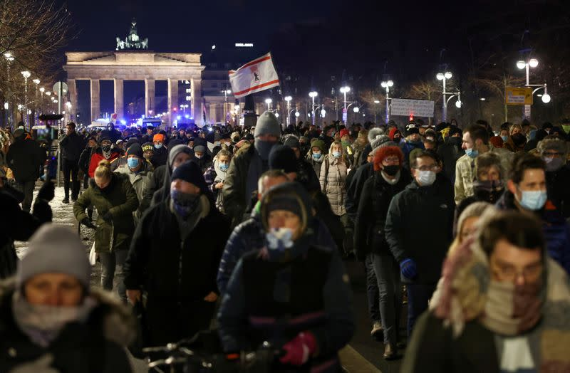 FILE PHOTO: Protest against COVID-19 restrictions in Berlin