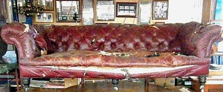 Beat-up sofa