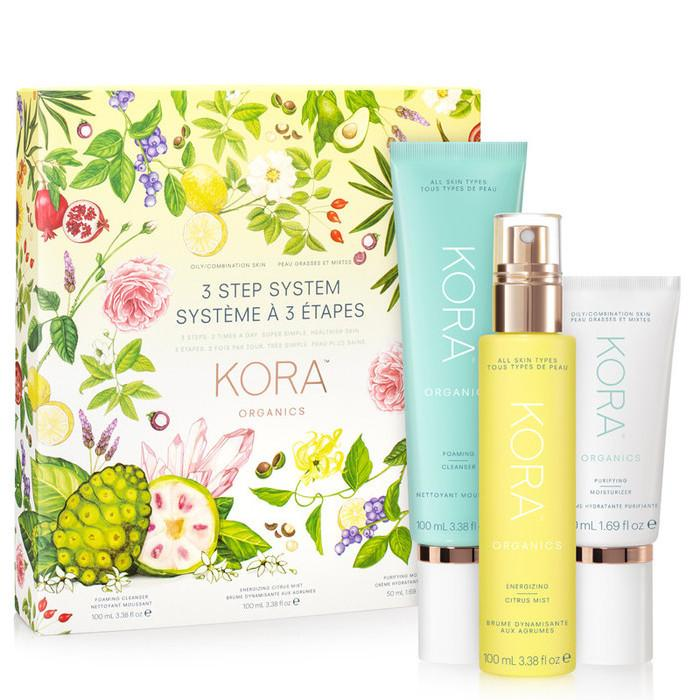 KORA Organics 3 Step System for Oily/Combination Skin, $124.95 from Nourished Life. Photo: Nourished Life.