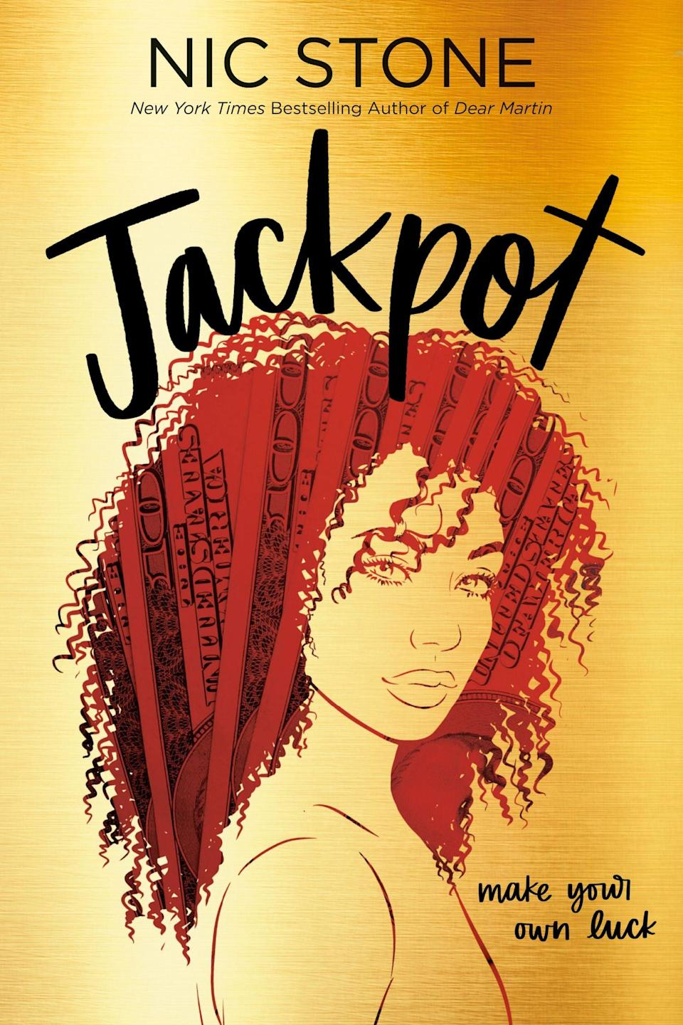 <p><strong><span>Jackpot</span></strong> by Nic Stone is one part YA romance, one part examination of class and wealth. Rico, a teenage cashier at a gas station, discovers that she sold a winning lottery ticket that no one yet has claimed. She teams up with wealthy, privileged classmate Zan to try to track down the lotto winner - and maybe change her own life in the process - but the investigation reveals much more than she bargained for.</p>