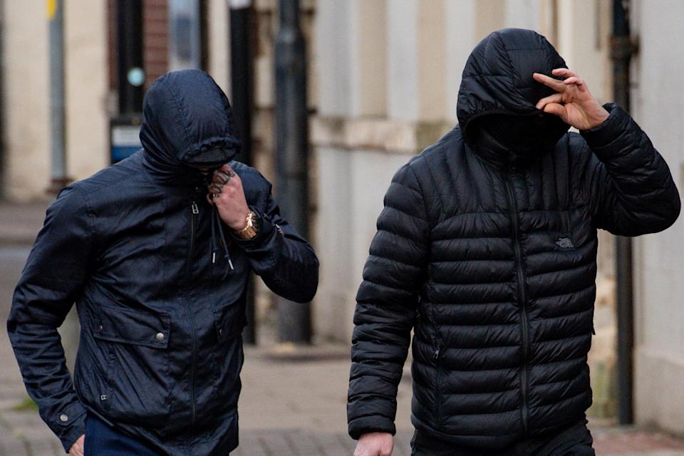 George Powell and Layton Davies were convicted at Worcester Crown Court of stealing a £3 million hoard of Viking coins and jewellery: PA
