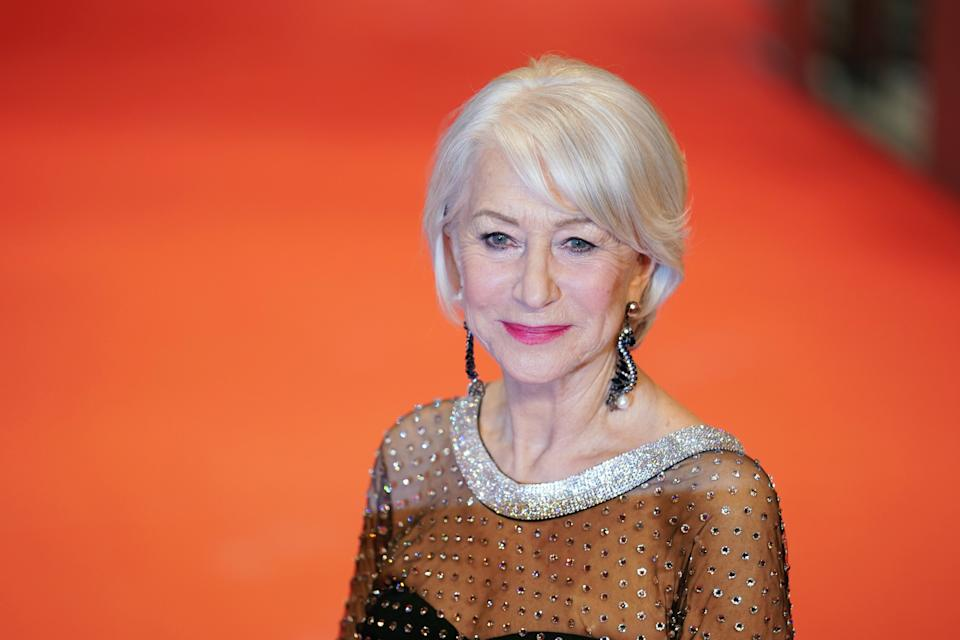 BERLIN, GERMANY - FEBRUARY 27: Helen Mirren arrives for the Homage Helen Mirren Honorary Golden Bear award ceremony during the 70th Berlinale International Film Festival Berlin at Berlinale Palace on February 27, 2020 in Berlin, Germany. Helen Mirren is this years recipient of the Honorary Golden Bear Award of the Berlinale. (Photo by Thomas Niedermueller/WireImage)