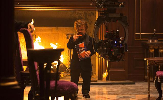 Peter Dinklage hypes Doritos Blaze in a new Super Bowl ad. (Photo: Courtesy of PepsiCo)