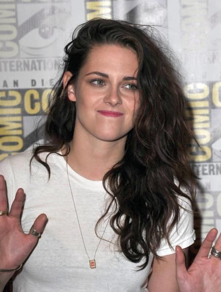 "SAN DIEGO, CA - JULY 12:  Actress Kristen Stewart  participates in ""The Twilight Saga: Breaking Dawn - Part 2"" Press Linel - Comic-Con International 2012  held  at The Bayfront Hilton Hotel on July 12, 2012 in San Diego, California.  (Photo by Albert L. Ortega/Getty Images)"