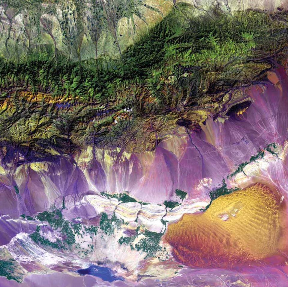 """A stunning array of images of our home planet, taken by Earth-observing science satellites, are featured in a new NASA publication. The book, """"Earth as Art,"""" is available in hardcover, electronically, and as a free iPad application.   To purchase this book, please visit the <a href=""""http://bookstore.gpo.gov/actions/GetPublication.do?stocknumber=033-000-01358-2"""">US Government Bookstore.</a>"""