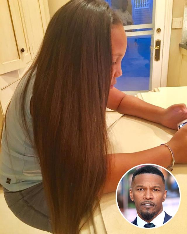 "<p>""Hair did! First day of school!"" reported proud papa Jamie Foxx (real name: Eric Bishop) during his ""#daddydaughtertime."" Those locks are looking good. (Photos: <a href=""https://www.instagram.com/p/BYHOSJ3j96o/?hl=en&taken-by=iamjamiefoxx"" rel=""nofollow noopener"" target=""_blank"" data-ylk=""slk:Jamie Foxx via Instagram"" class=""link rapid-noclick-resp"">Jamie Foxx via Instagram</a>/AP Images) </p>"