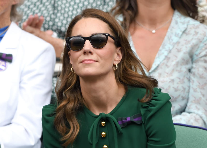 The duchess has worn a variety of other Ray Ban sunglasses over the years to Wimbledon. (Getty Images)