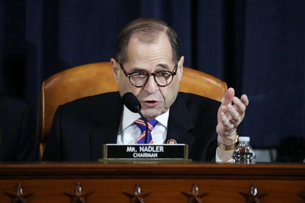 PHOTO: House Judiciary Committee Chairman Jerrold Nadler speaks during testimony by constitutional scholars before the House Judiciary Committee on Capitol Hill, Dec. 4, 2019, in Washington. (Drew Angerer/Getty Images)