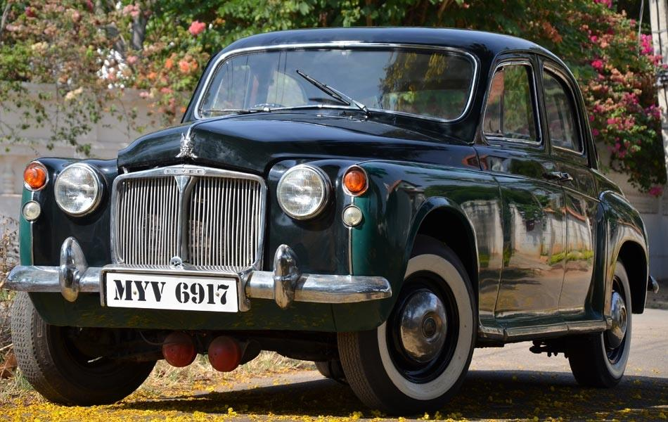 "<b>Car:</b> Rover P3<br><b>Year:</b> 1954<br><b>Owner:</b> Dr Thomas<br><b>Story:</b> The Rover P3 is again a single-owner car with all the original bells and whistles which is difficult to get, in ordinary circumstances. The owner was a Doctor in Bahrain and brought the car back with him many years ago. Sulaiman spotted the car sometime in the 90's on Brigade road, driven by a suited distinguished looking gentleman. He followed the car and introduced myself to the owner. He turned out to be Dr Thomas of the Bangalore Polyclinic in Frazer town. ""Dr Thomas told me the car was not for sale but he would definitely let me know when he planned to sell it. True to his word years later he sent me a message and I acquired the car,"" recalls Sulaiman."