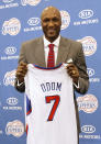 Lamar Odom, recently traded to the Los Angeles Clippers, just as recently withdrew his name from consideration for the U.S. team. (Photo by Mario Anzuoni/Reuters)