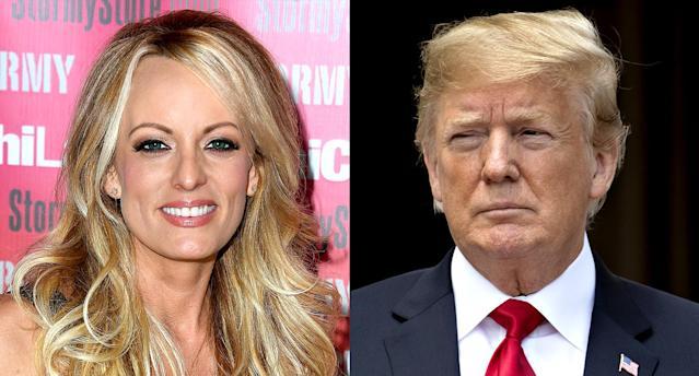 Stormy Daniels and Donald Trump. (Photo: Getty Images)