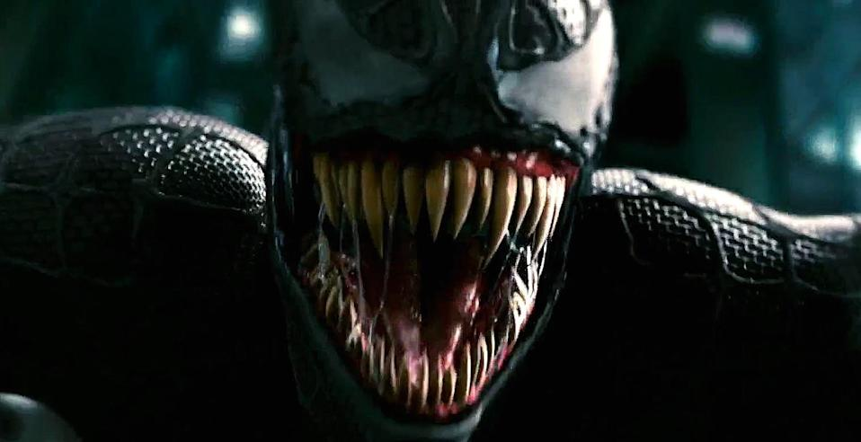 Venom's first big screen appearance in 2007's 'Spider-Man 3' (credit: Sony)