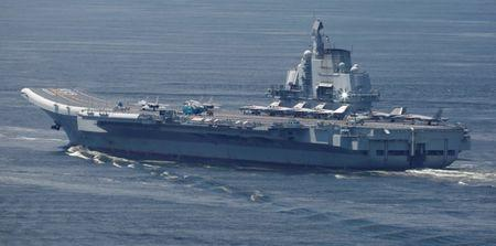 China's aircraft carrier Liaoning departs Hong Kong