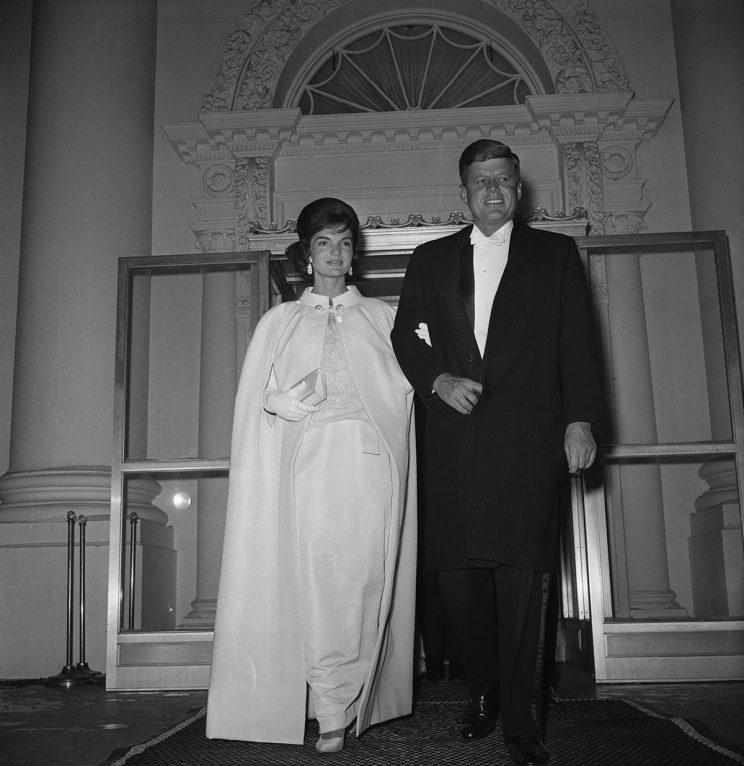 John and Jacqueline Kennedy on their way to the inaugural ball.
