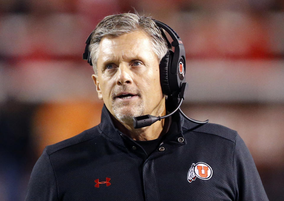 Utah head coach Kyle Whittingham is 10-1 in bowl games as the Utes head coach. (AP)