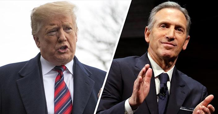 Donald Trump and Howard Schultz