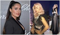 <p><b>When: May 2017</b><br>Salma Hayek may be 50, but she decided to give blush locks a go at Cannes on Sunday. The iconic beauty ditched her signature brunette tresses in favour of a rose toned pastel wig that was coiffed by celeb stylist Jennifer Yepez and coloured by Aura. The hair was giving us all sorts of retro Hollywood vibes and it somehow knocked years off of the actress's age! Then again, Hayek just as quickly had that youthful glow when she returned to her brunette locks hours later. What do you prefer Hayek with — pink or dark tresses? <i> (Photos: Getty/Instagram) </i> </p>