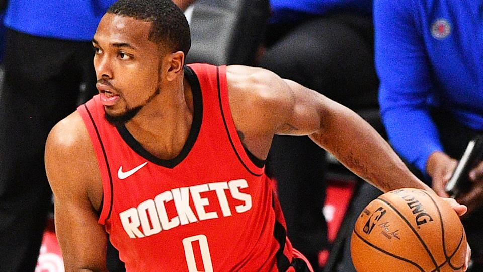 Houston Rockets guard Sterling Brown was reportedly attacked in an unprovoked attack outside a club in Miami. (Photo by Brian Rothmuller/Icon Sportswire via Getty Images)