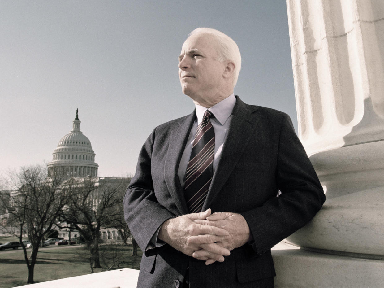 Sen. John McCain in 2000. (Photo: David Hume Kennerly/Getty Images)