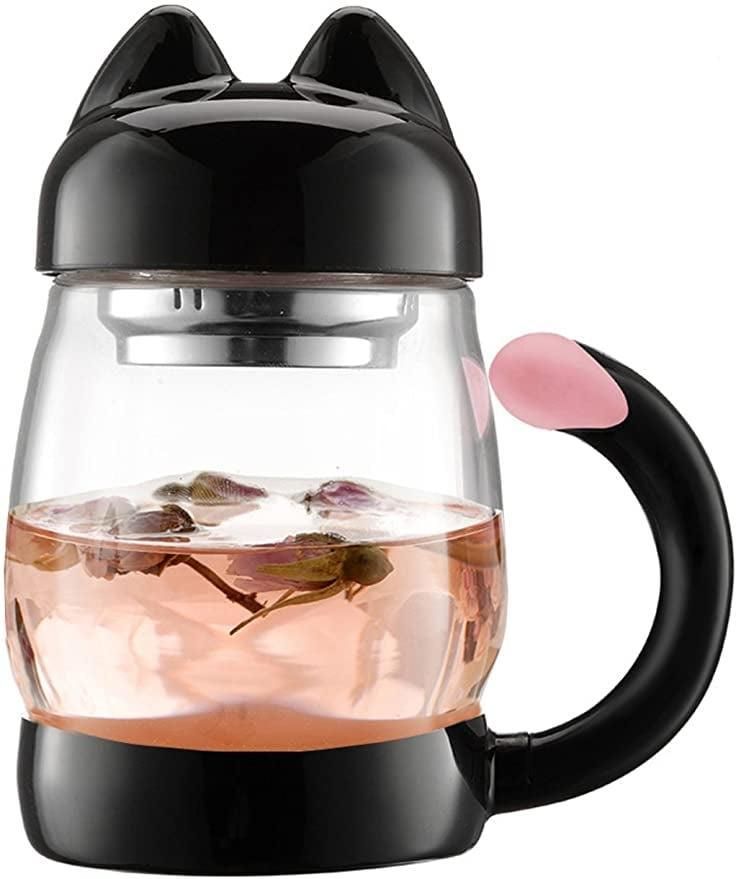 <p>The <span>BZY1 420 ml / 14 oz Portable Cute Cat Tail Glass Tea Cup with Lid</span> ($17, originally $19) is the perfect partner in crime for tea time.</p>