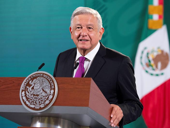 Mr Lopez Obrador said his 'conscience is clear' (EPA)