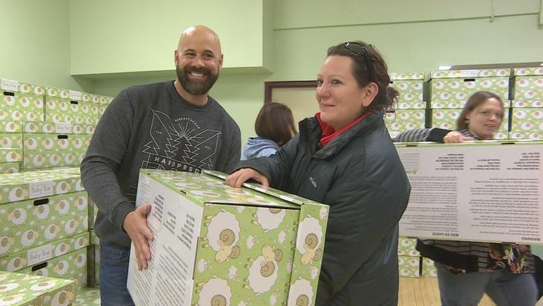 Cardboard 'baby boxes' handed out free to help save infant lives in Regina