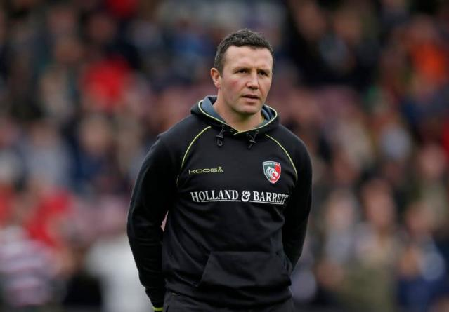 FILE PHOTO: Leicester Tigers head coach Aaron Mauger