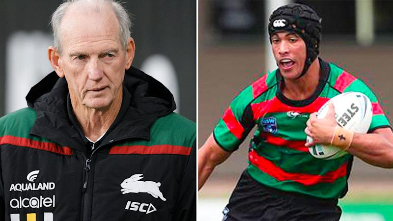 Pictured here, Souths coach Wayne Bennett and young gun Joseph Suaalii.