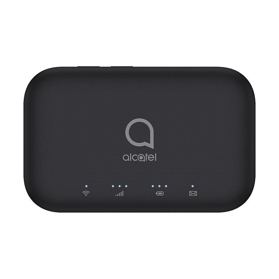 """<p><strong>Alcatel</strong></p><p>t-mobile.com</p><p><strong>$90.00</strong></p><p><a href=""""https://www.t-mobile.com/tablet/alcatel-linkzone-2"""" rel=""""nofollow noopener"""" target=""""_blank"""" data-ylk=""""slk:Shop Now"""" class=""""link rapid-noclick-resp"""">Shop Now</a></p><p>T-Mobile previously <a href=""""https://www.t-mobile.com/tablet/franklin-t9-mobile-hotspot?sku=610214660763"""" rel=""""nofollow noopener"""" target=""""_blank"""" data-ylk=""""slk:only sold one"""" class=""""link rapid-noclick-resp"""">only sold one</a> Wi-Fi hotspot on its website, which we didn't recommend because of its poor performance. Fortunately, there's now another hotspot that works better for T-Mobile customers. The Alcatel LINKZONE 2 creates your own personal Wi-Fi network in just seconds. It offers download speeds of up to 150 MBps and upload speeds of 50 Mbps.</p><p>Compared to the previous LINKZONE hotspot, this one has a much larger 4,400 mAh battery that should provide users connectivity for up to 24 hours. The device sports a compact design, it connects to up to 16 devices, and it supports both 2.4 and 5.0 GHz bands. It also recharges over USB-C.</p>"""