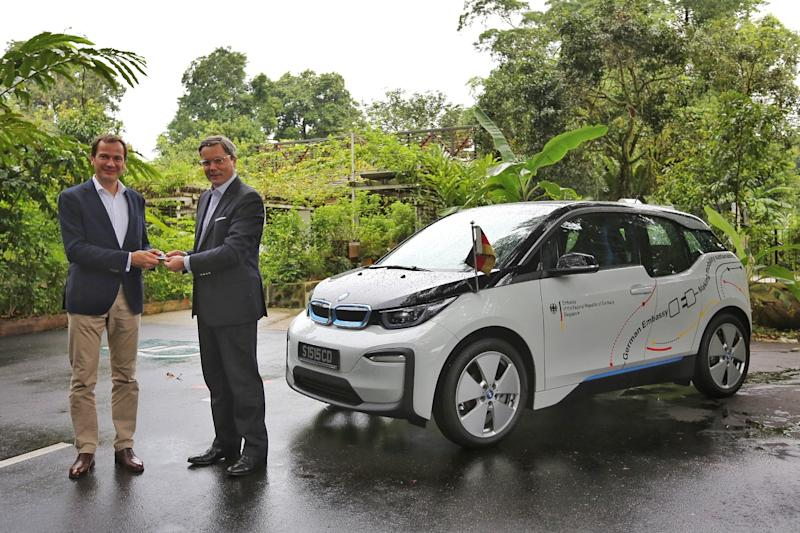 German Embassy In Singapore Sets A Green Example To Others With Bmw I3