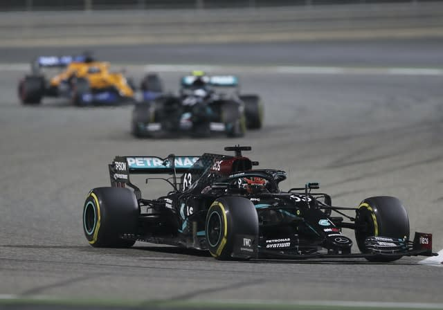 George Russell leads the way early in the Bahrain Grand Prix