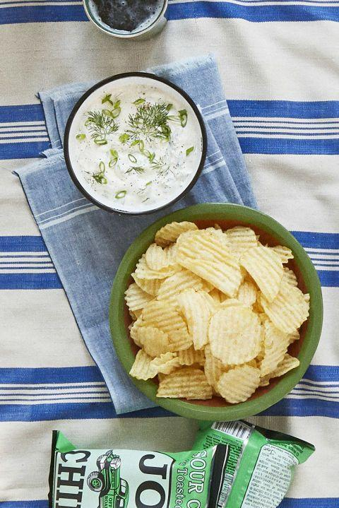 "<p>Obsessed with pickles? This versatile dill dip only takes 10 minutes to make. </p><p><em><a href=""http://www.countryliving.com/food-drinks/recipes/a42464/dill-scallion-dip-recipe/"" rel=""nofollow noopener"" target=""_blank"" data-ylk=""slk:Get the recipe at Country Living »"" class=""link rapid-noclick-resp"">Get the recipe at Country Living »</a></em><br></p>"