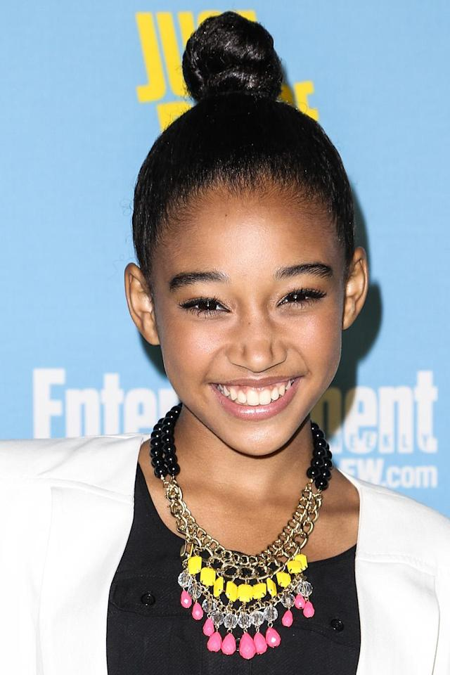 <p>Amandla Stenberg arrives at <em>Entertainment Weekly</em>'s Comic-Con celebration at Float at Hard Rock Hotel San Diego on July 14, 2012. (Photo: Chelsea Lauren/WireImage) </p>