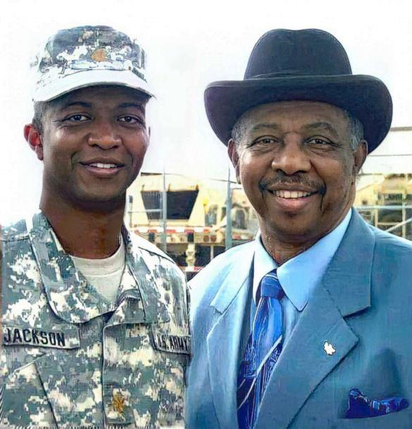 PHOTO: Col. Eric Jackson with his father Edward Jackson in this undated photo. (Courtesy Jackson family)