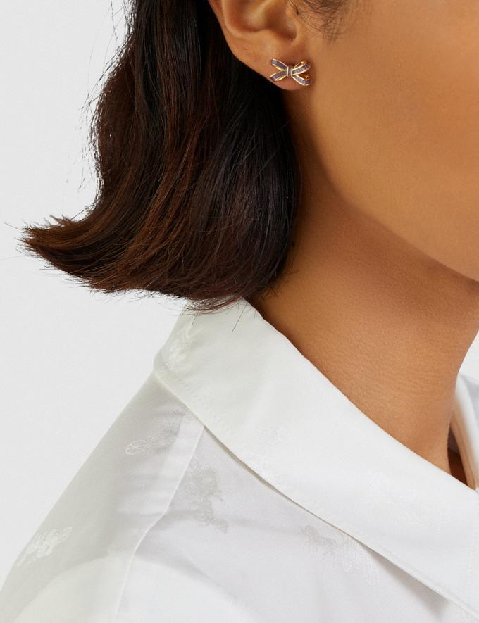 Bow Stud Earrings. Image via Coach.