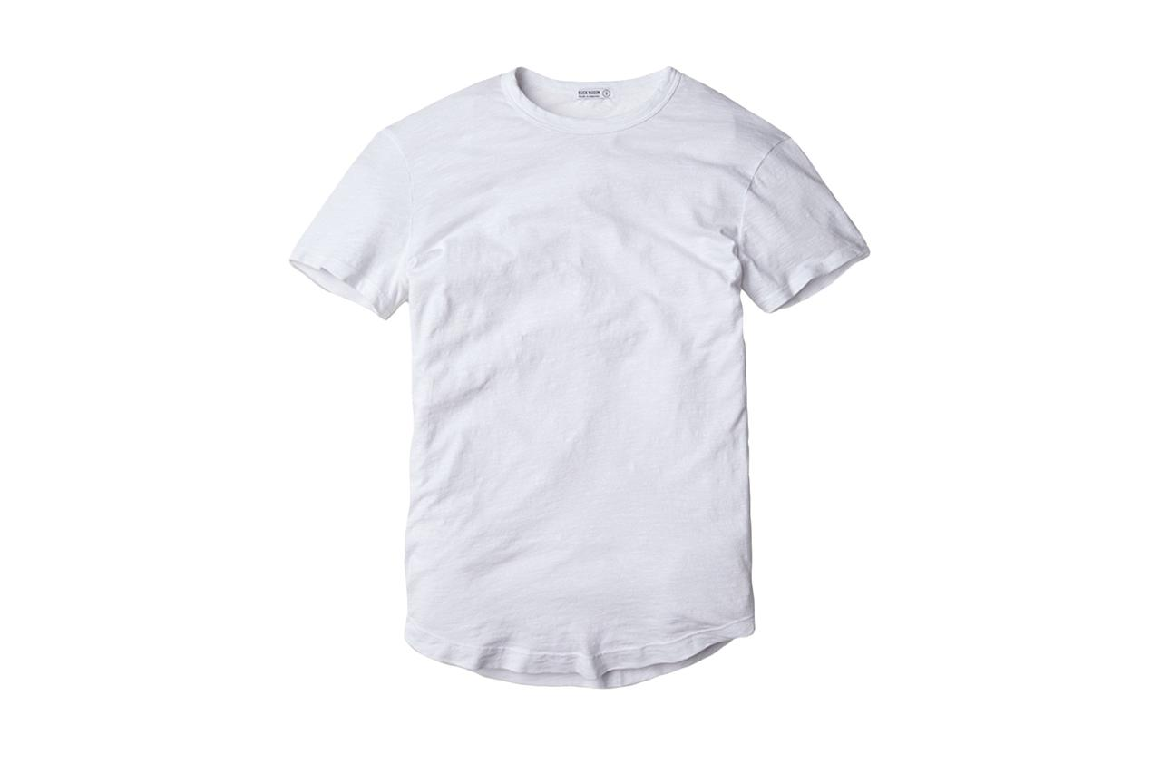 """<p>There's only so much you can do to a T-shirt to take it from normal to exemplary, mainly fit and fabric. And Buck Mason is dedicated to both.</p> <p><em>Buck Mason crew neck slub T-shirt</em></p> $35, Buck Mason. <a href=""""https://www.buckmason.com/singles/white-crew-neck-tee"""">Get it now!</a>"""