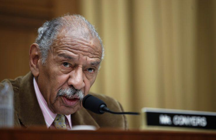 Rep. John Conyers, D-Mich., speaks during a hearing of the House Judiciary subcommittee on Crime, Terrorism, Homeland Security, and Investigations on Capitol Hill in Washington on April 4, 2017. (Photo: Alex Brandon/AP)
