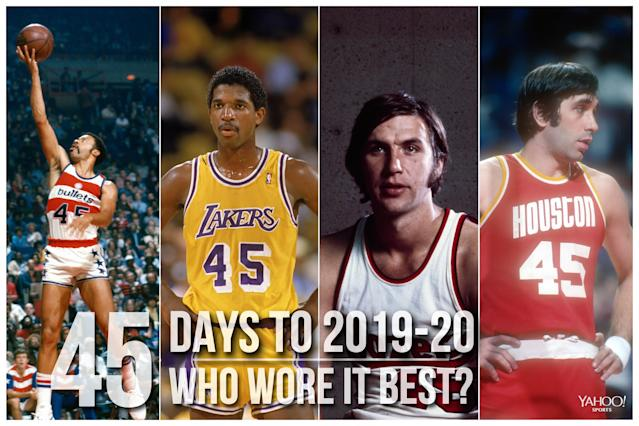 Which NBA player wore No. 45 best?