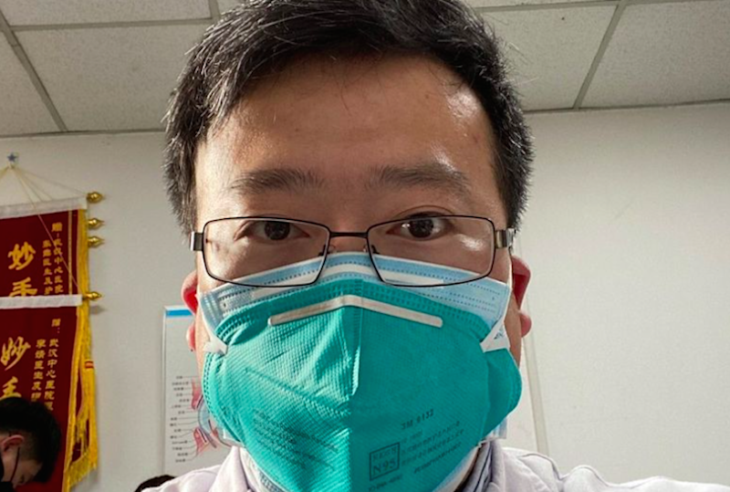 Dr Li Wenliang was silenced by Chinese police after warning about the coronavirus outbreak (Weibo)