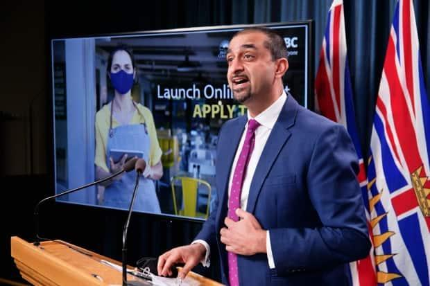 Minister of Jobs, Economic Recovery and Innovation Ravi Kahlon said InBC is a first-of-its-kind investment fund in the province. (Mike McArthur/CBC - image credit)