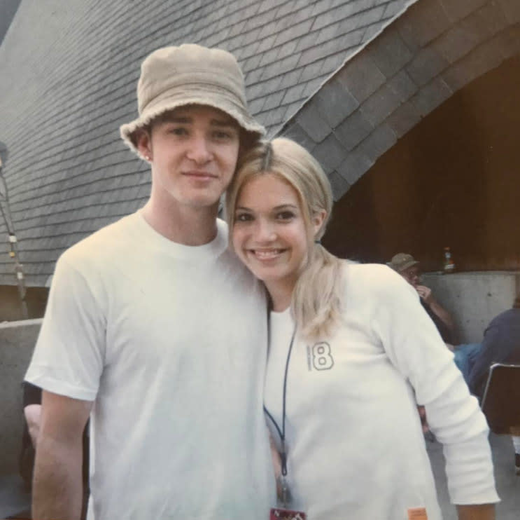 "<p>Every teen's crush back in the '90s was the same as Moore's: Justin Timberlake. The difference, of course, is that she actually got to know him. ""Summer of 1999. Abercrombie tshirts and bucket hats. Opening for this guy and his band. Look at my nervous smile!"" (Photo: <a href=""https://www.instagram.com/p/BSRjU9SF32t/?hl=en&taken-by=mandymooremm"" rel=""nofollow noopener"" target=""_blank"" data-ylk=""slk:Mandy Moore via Instagram"" class=""link rapid-noclick-resp"">Mandy Moore via Instagram</a>) </p>"