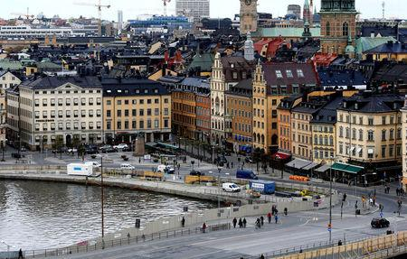 FILE PHOTO: A general view of Gamla Stan, the old town of Stockholm