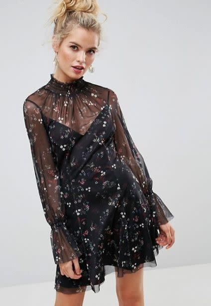 A long-sleeved mesh mini delivers the perfect amount of sexy coverage for the cool weather. Get it at <span>ASOS for $76</span>.