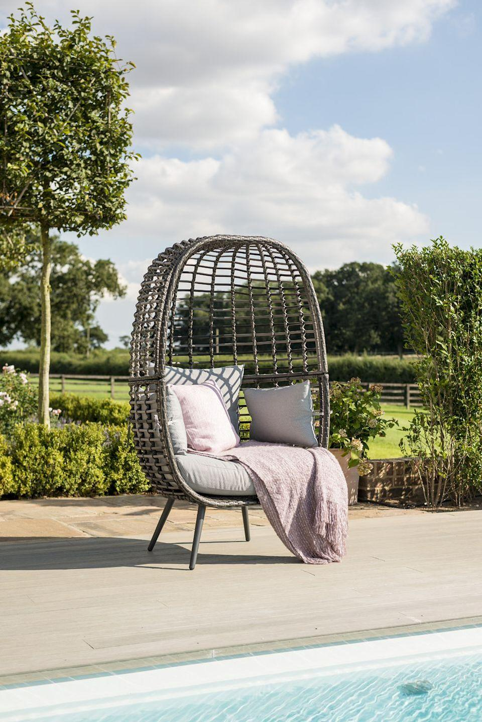 """<p>Cocooning pod-style <a href=""""https://www.housebeautiful.com/uk/garden/g35548498/hanging-egg-chair/"""" rel=""""nofollow noopener"""" target=""""_blank"""" data-ylk=""""slk:egg chairs"""" class=""""link rapid-noclick-resp"""">egg chairs</a> are the ultimate place to relax. A favourite for many on Instagram (including Mrs Hinch and <a href=""""https://www.housebeautiful.com/uk/lifestyle/a35780497/stacey-solomon-sort-your-life-out-bbc-one-show/"""" rel=""""nofollow noopener"""" target=""""_blank"""" data-ylk=""""slk:Stacey Solomon"""" class=""""link rapid-noclick-resp"""">Stacey Solomon</a>), they are ideal for drifting off in the sunshine. Pricey, yes, but they are a cosy addition to every outdoor sanctuary. Have you got yours yet? </p><p>Pictured: <a href=""""https://go.redirectingat.com?id=127X1599956&url=https%3A%2F%2Fwww.cuckooland.com%2Fbrand%2Fmaze-rattan%2Fmaze-rattan-riviera-garden-chair&sref=https%3A%2F%2Fwww.housebeautiful.com%2Fuk%2Fgarden%2Fg36276312%2Finstagrammable-garden%2F"""" rel=""""nofollow noopener"""" target=""""_blank"""" data-ylk=""""slk:Maze Rattan Riviera Garden Chair, £599, Cuckooland"""" class=""""link rapid-noclick-resp"""">Maze Rattan Riviera Garden Chair, £599, Cuckooland</a></p><p><a class=""""link rapid-noclick-resp"""" href=""""https://www.housebeautiful.com/uk/garden/g35548498/hanging-egg-chair/"""" rel=""""nofollow noopener"""" target=""""_blank"""" data-ylk=""""slk:READ MORE: HANGING EGG CHAIRS"""">READ MORE: HANGING EGG CHAIRS</a> </p>"""