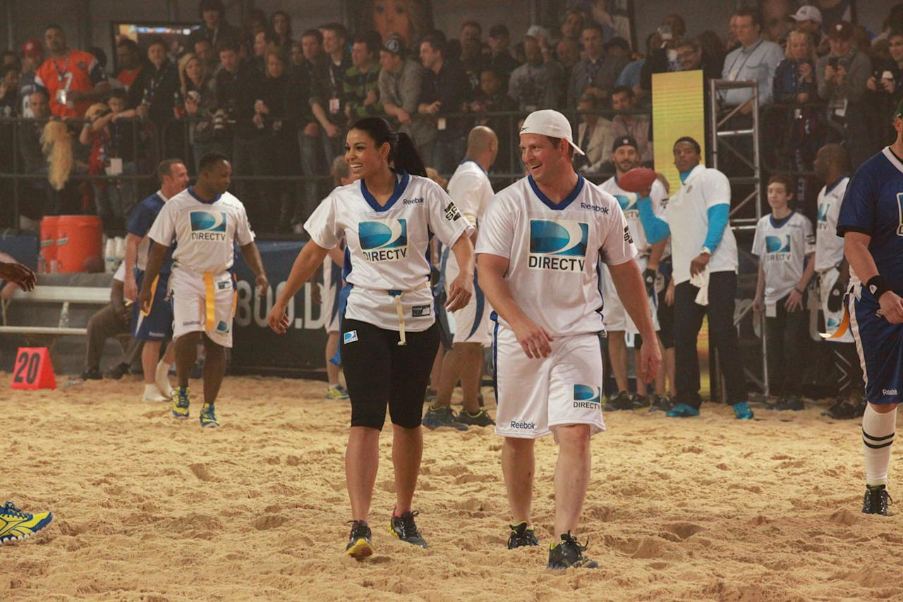 Celebrities and NFL stars face off at the DirecTV Celebrity Beach Bowl in Indianapolis.