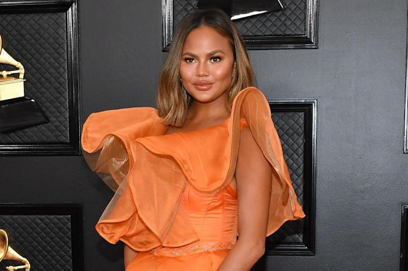 Chrissy Teigen at the Grammys on 26 January 2020: Amy Sussman/Getty Images