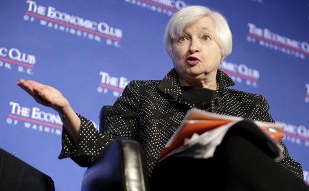 Federal Reserve Chairman Janet Yellen speaks at an event hosted by the Economic Club of Washington