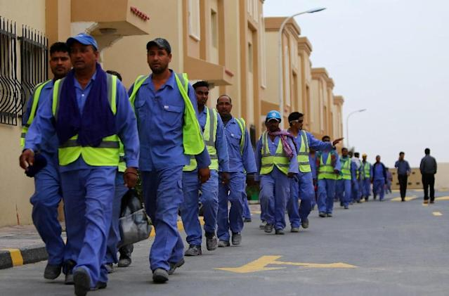 Activists and international labour unions had accused Qatar of subjecting migrant workers to slave-like conditions on jobs that included infrastructure projects for the World Cup in 2022 (AFP Photo/MARWAN NAAMANI)