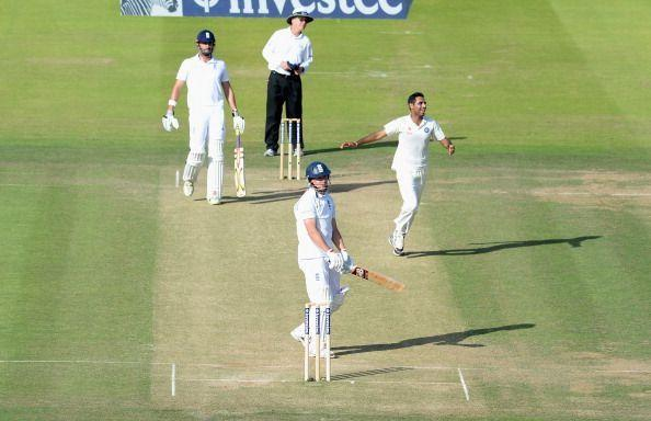 Bhuvneshwar Kumar made full use of the bowling-friendly conditions at Lord's in 2014