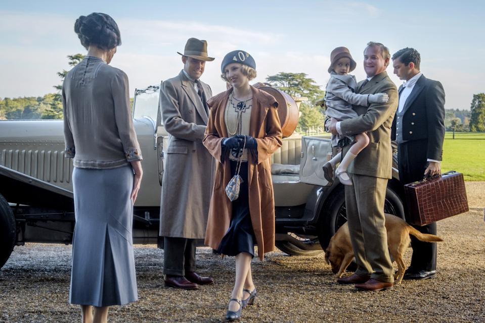 """Never underestimate the popularity of the Crawleys. Beating <em>Star Wars</em> to nab second place is the big screen transfer of ITV's cosiest prestige drama. The film was a huge hit and <a href=""""https://uk.movies.yahoo.com/downton-abbey-sequel-already-in-the-works-120100340.html"""" data-ylk=""""slk:a sequel is, inevitably, on the way;outcm:mb_qualified_link;_E:mb_qualified_link;ct:story;"""" class=""""link rapid-noclick-resp yahoo-link"""">a sequel is, inevitably, on the way</a>. (Credit: Universal)"""